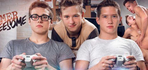 Gamer Threesome - Tyler Hill & Blake Mitchell and Noah White