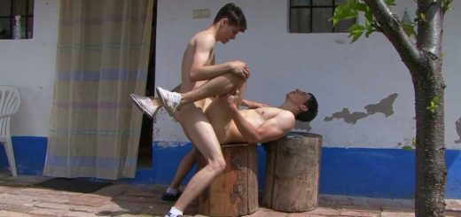 Hot BAREBACK Action - Village Boys Benedikt & Drake