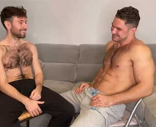 For those of you who like a houng furry guy - HairyCharly may press your buttons. This did not go as I expected, the slim taut furry guy gives big hunk Dato a good hole workout with his nice uncut dick!