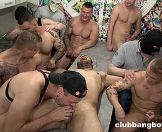 Good looking and horny dudes will always be the center of attention in our GayBangBoy episodes. This time we have a lot of tight asses and huge cocks to make this crazy party one of the best you won't forget soon.